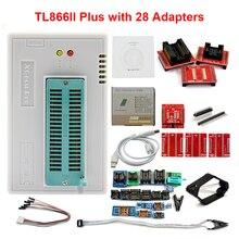 Original XGECU V10.35 TL866II Plus Universal USB Minipro Programmer+28 Adapters+Test Clip TL866 PIC Bios High speed Programmer