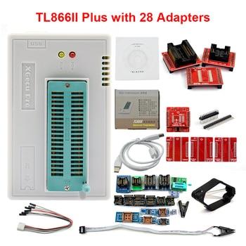 Original XGECU V10.35 TL866II Plus Universal USB Minipro Programmer+28 Adapters+Test Clip TL866 PIC Bios High speed Programmer hailangniao new tl866a tl866 high performance willem universal programmer support icsp support flash eeprom sop plcc tsop