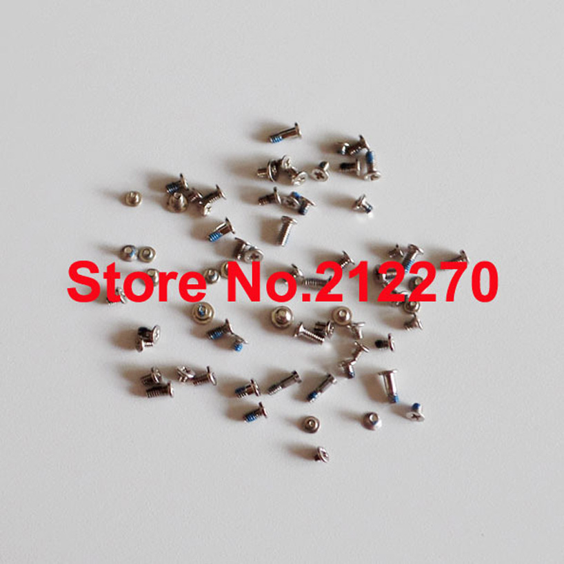 Free DHL EMS Original New Full Screw Set With 2pcs Silver Bottom Screws Replacement Parts For