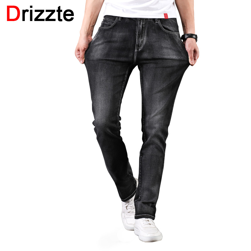 dccce86cc2d Drizzte Mens 2018 New Plus Size 28-46 Black Grey Stretch Slim Fit Jeans  Denim