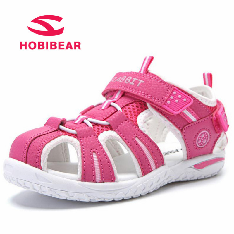 HOBIBEAR Summer Beach Dress Children Sandals Girls Flat Boys Close Toe Breathable Cut-Outs Sandals Kids Shoes School Shoes 2018 ...