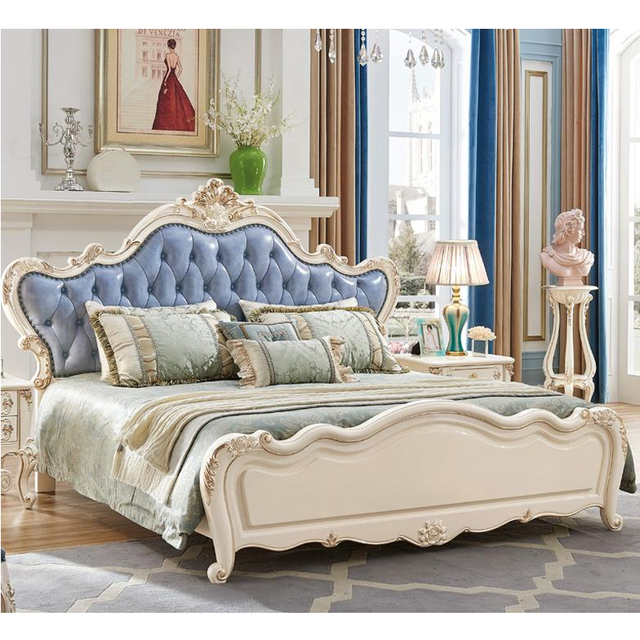 Master bedroom leather wall bed Bedroom Furniture sets with wardrobe ...
