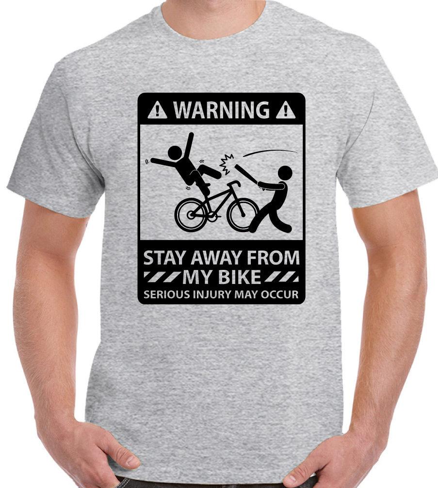 Stay auswarts von My Bike - Herren Lustige Fahrrad T-Shirt Cyclist MTB RACER BMX
