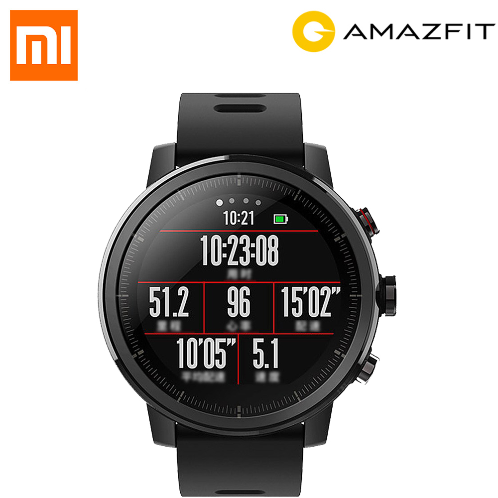 Original English Huami Amazfit Stratos Smart Sports Watch 2 4GB 5ATM Water Resistant GPS Firstbeat Swimming Smartwatch Phone