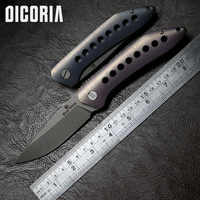 DICORIA XL APEX Hunting Flipper folding knife S35VN blade Titanium Handle Camping hunting Outdoor Survival knives EDC tools