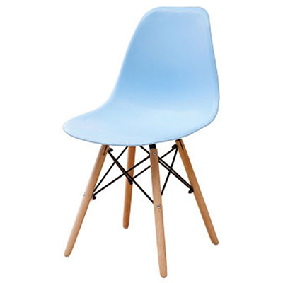 Полипропилен Дерево DIY обеденный стул современный дешевый обеденный бар встречи гостиная Кофейня бук деревянный стул Лофт стулья мебель для дома - Цвет: HH381300BU