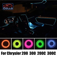 Car Styling 9M EL Wire For Chrysler 200 300 200C 300C Car Interior Romantic Atmosphere Lamp