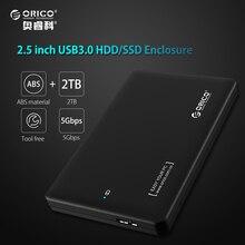 ORICO Sata3.0 2599US3 para USB 3.0 HDD Caso Ferramenta Livre 2.5 Hdd para Notebook PC Desktop Caixa de disco rígido de Apoio UASP