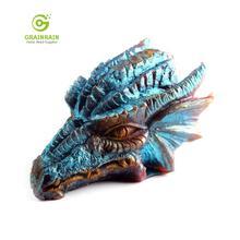 Grainrain 3D דרקון עובש נרות עובש סיליקון סבון בר עובש DIY קרפט תוצרת בית שרף עובש