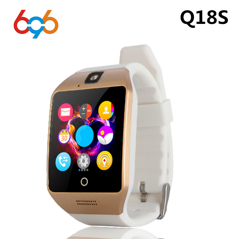696 New NFC Bluetooth Smart Watch Q18S With Camera facebook Sync SMS MP3 Smartwatch Support 2G Sim TF Card For IOS&Android Phone