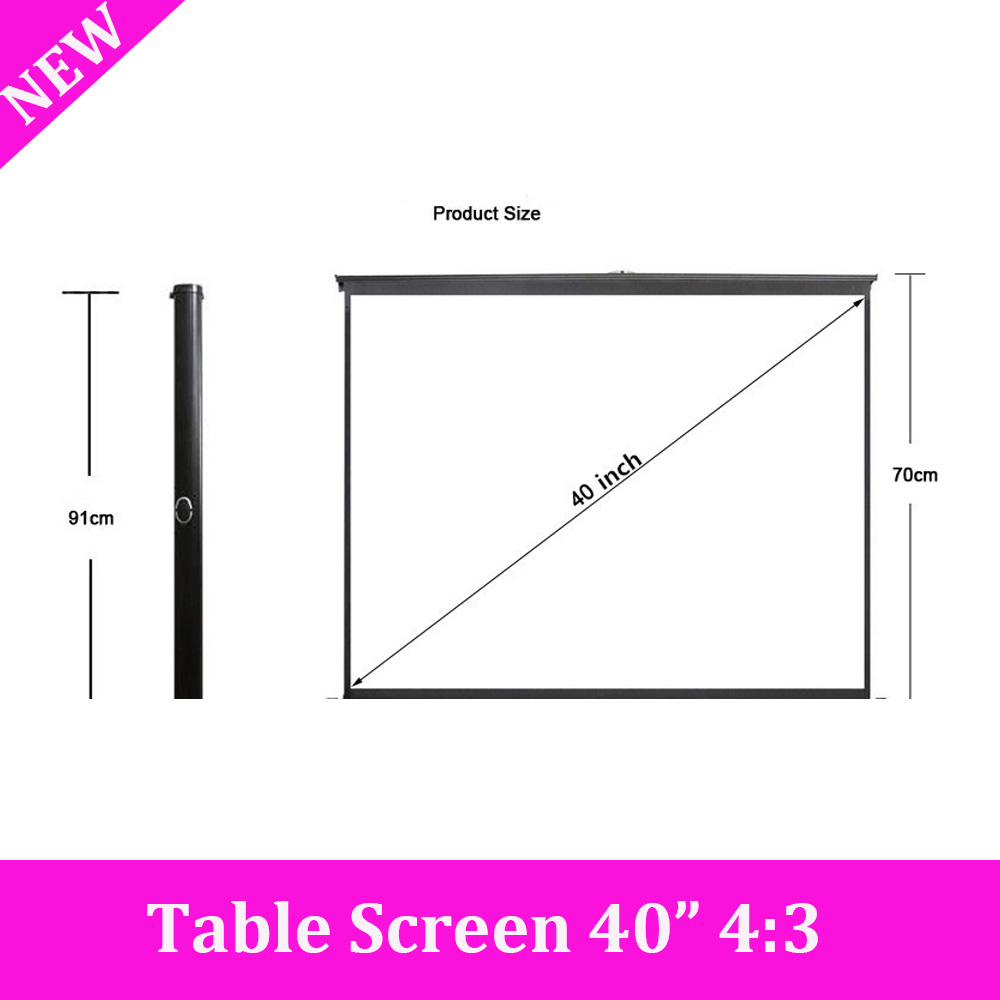 White plastic folding table lowes - New 40 Quot 4 3 White Plastic Fabric Fast Fold Table Projection Screen High Quality