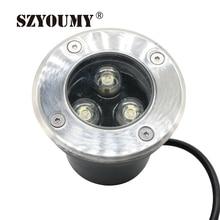 SZYOUMY 9W DC12V IP67 White 3 x 3W LED Inground Light RGB Underground Light Color Changing Outdoor Buried LED Uplight