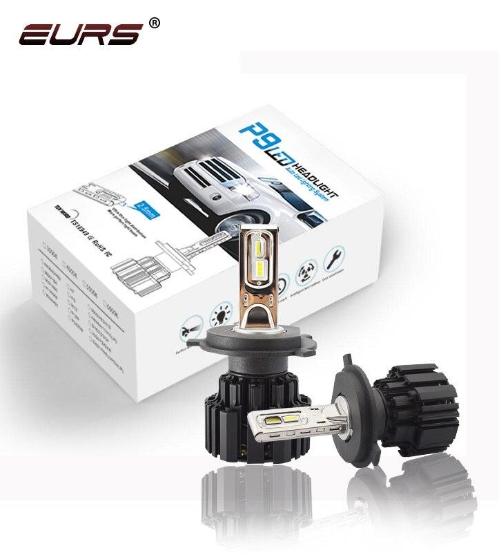 EURS Led H4 P9 H7 LED High Brightness Car Headlight Hi/Lo Beam Lights 100W 13600LM Automobile Lamps Bulbs Fog Light Car styling