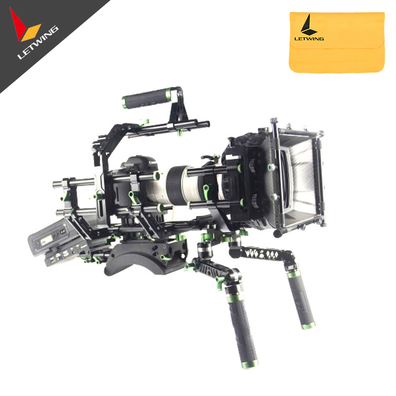 Lanparte V-mount Shoulder Support SS-02 for 15mm Rod Baseplate DSLR Video Rig