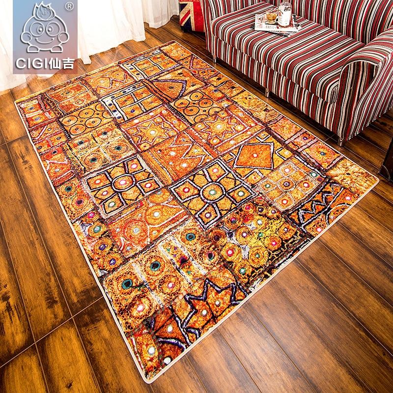 CIGI egypte Style imprimé motif tapis créatif chambre salon cuisine coloré tapis de sol tapis antidérapant rectangulaire tapis