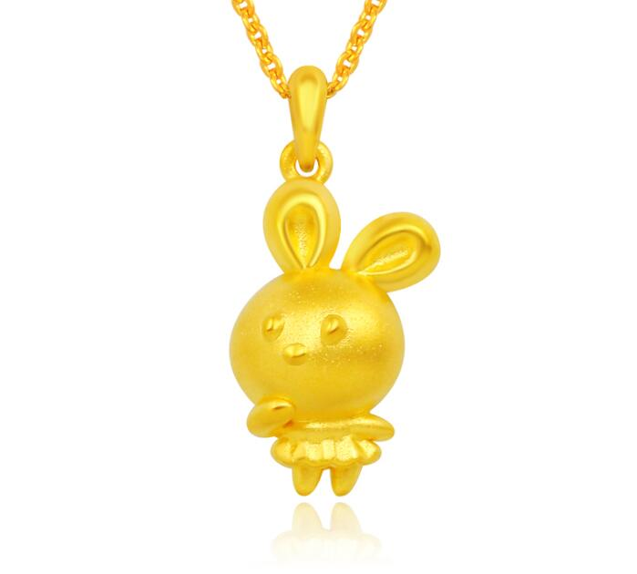 New Arrival Real 24K Yellow gold Bunny Girl Pendant 1.54gNew Arrival Real 24K Yellow gold Bunny Girl Pendant 1.54g