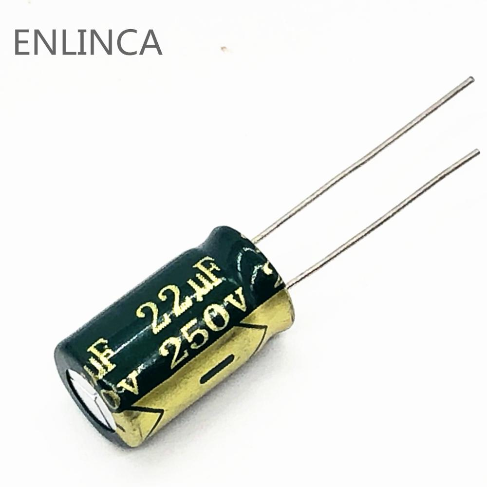 6pcs/lot S113 High Frequency Low Impedance 250v 22UF Aluminum Electrolytic Capacitor Size 10*17 22UF 20%