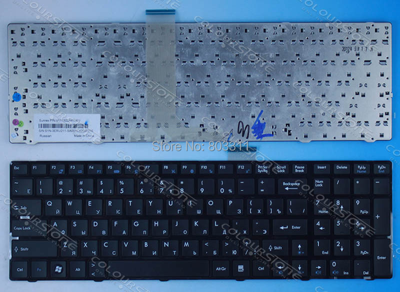 orignal RUSSIA Laptop keyboard for MSI A6200 CR620 CX705 S6000 RU BLACK V111922AK1
