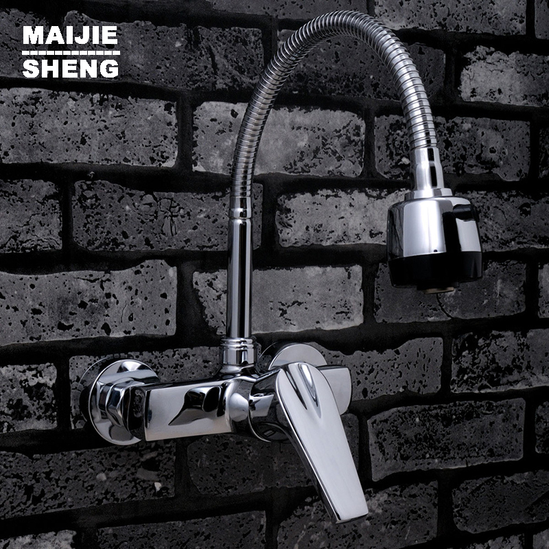 Flexible faucet spout wall mounted kitchen faucet mixer single handle kitchen sink faucet with spray Free Shipping dental teaching model caries model of child gum can be removed