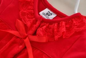 Image 3 - 3 Pcs חמוד יילוד תינוקת בגדי סט 1st יום הולדת 2017 חדש סגנון תינוק בגדי תינוק כובע נעלי סרט תחרה 0 תינוק חליפת 12