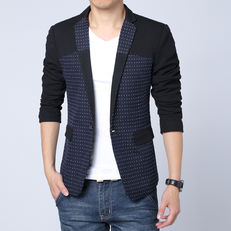 1dfb1d8ae9608 Bleiser masculino blaser moda casual hombres de manga larga slim fit suit chaqueta  moderna patchwork hombres blazer masculino en Blazers de La ropa de los ...