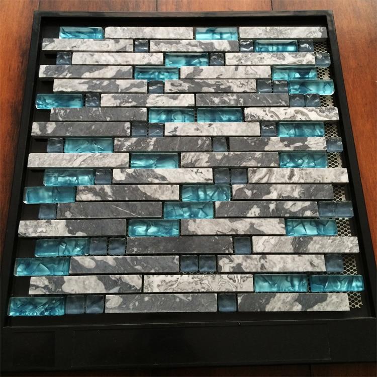 Acquista all'ingrosso online marmo di vetro striscia mosaici da ...