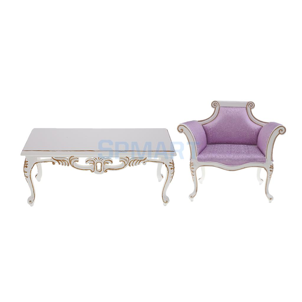 1:6 Scale Sofa Chair Tea Table Furniture Set for Barbie Blythe Licca Azone Doll or 12'' Action Figure Accessories