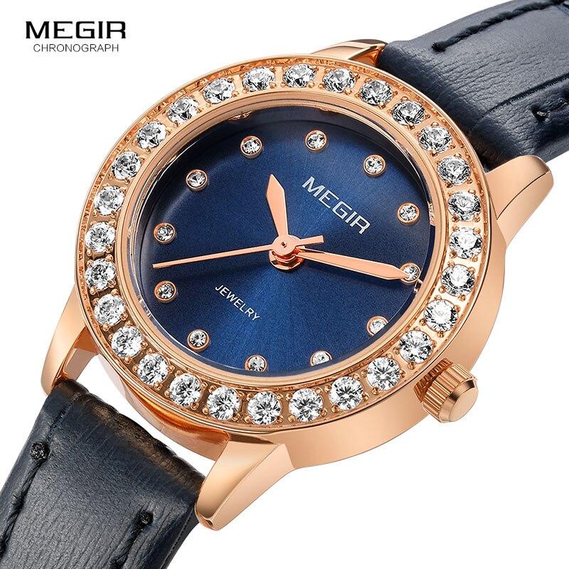 GIMSR נשים שעונים למעלה מותג יוקרה אופנה נקבה קוורץ שעון יד גבירותיי עור עמיד למים שעון ילדה Relogio Feminino-בשעונים לנשים מתוך שעונים באתר
