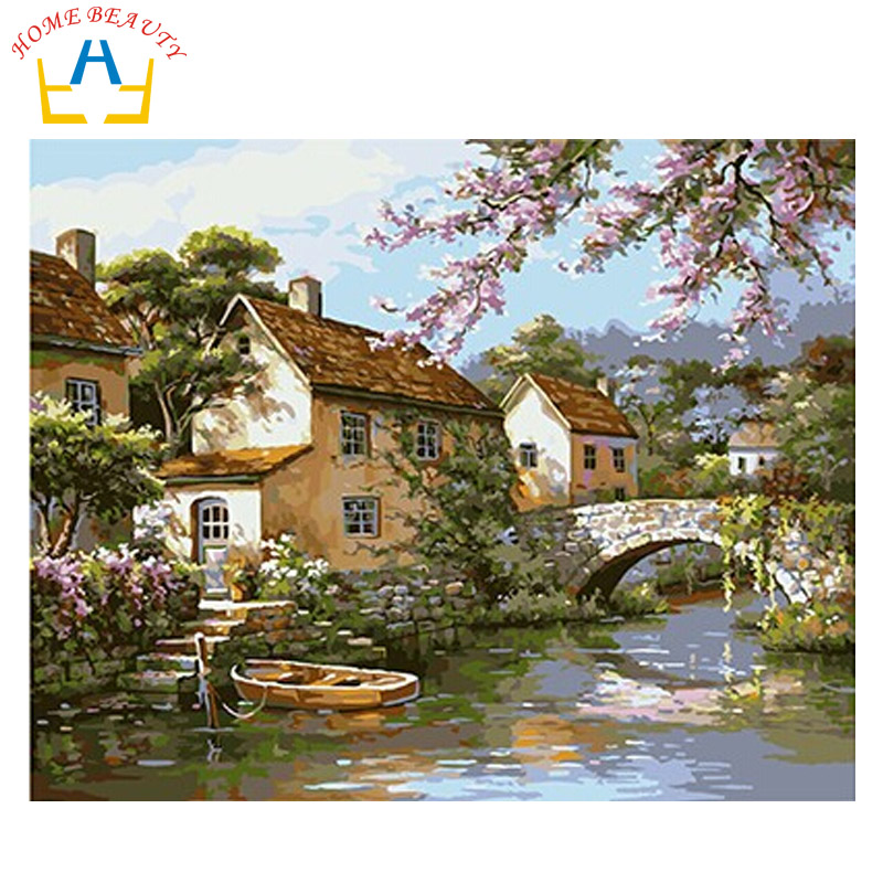 Online buy wholesale lake canvas from china lake canvas for Digitally paint your house