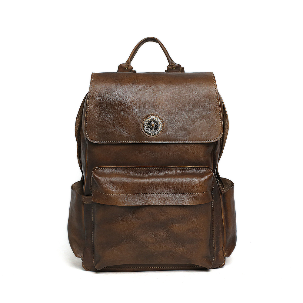 ROCKCOW High Quality England Vintage Style Leather Men Backpacks For College Preppy Style School Backpacks for 14 inch 9031 high quality england vintage style genuine leather men backpacks for college school backpacks for 14 inch laptop bags 9024