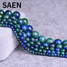 SAEN High Quality Natural lazurite Fynchenite Phoenix stone beads for jewelry making 4 6 8 10 12mm wholesale natural stone beads