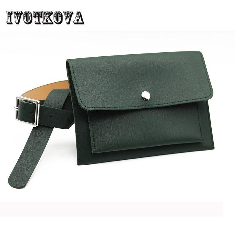 IVOTKOVA Klassische Trendy Taille Taschen Mode Frauen Gürteltasche Vintage Mini Taschen Pu-leder Einfache Casual Gürtel Taschen 7 farben geschenk
