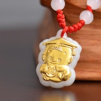 Hot Sale Jade Necklace Pendants for Baby Child Jewerly Good Luck Gift Pendant Jade High Quality