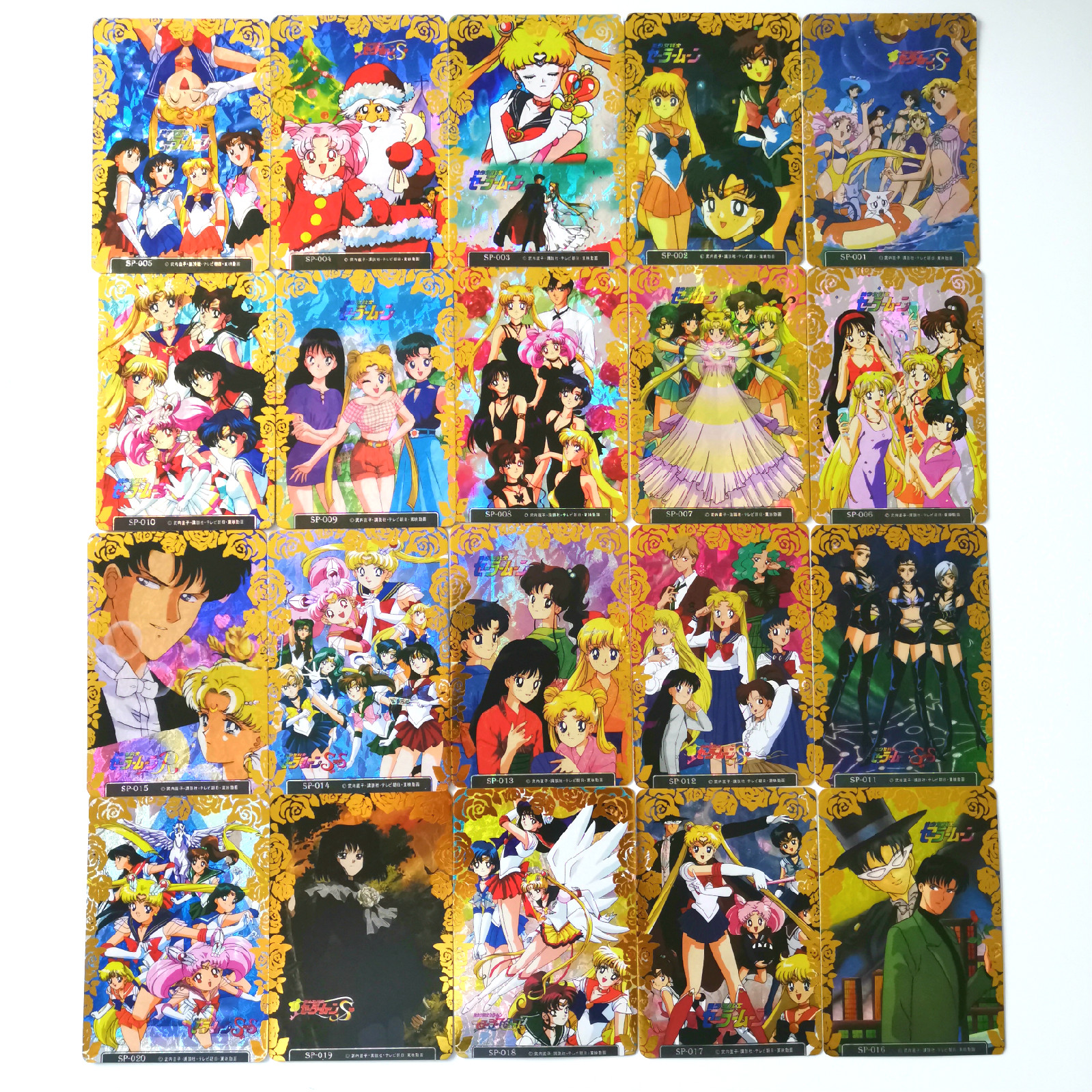 20pcs Sailor Moon Third Pop-up Bronzing Border Toys Hobbies Hobby Collectibles Game Collection Anime Cards