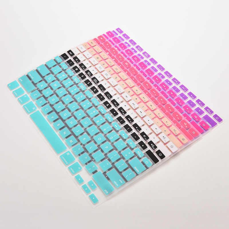 7 couleurs de bonbons housse de clavier en Silicone pour Apple Macbook Pro MAC 13 15 17 28.7 cm x 11.9 cm