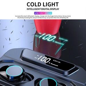 Image 4 - G02 V5.0 auriculares, inalámbricos por Bluetooth, auriculares estéreo IPX7 impermeables Táctiles con pantalla LED de batería de 3300mAh y estuche de carga tipo c