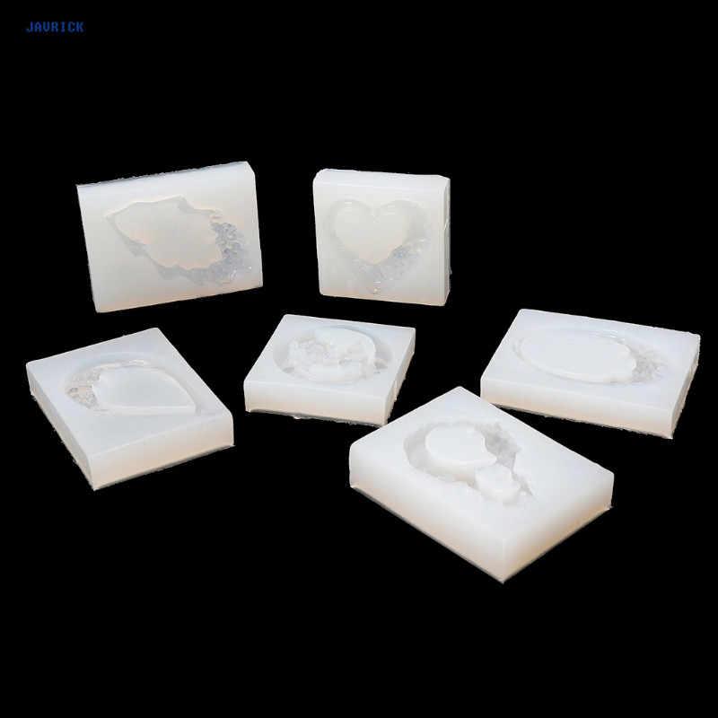 JAVRICK резное Нефритовое формочка для силиконовой подвески смолы ювелирные изделия серьги ожерелье кулоны из нержавеющей стали пресс-форма для украшения рукоделие Смола пресс-формы