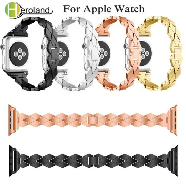 Сплав Сталь браслет для apple watch группа для я смотреть серии Группа 1/2/3/4 40 мм 44 мм 42 мм 38 мм ремешок Смарт аксессуары черный новый