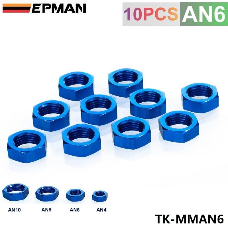 """Prix pour Epman 6AN AN6 an 9/16 """" - 18 cloison bleu aluminium finition écrou joint verrouillage montage TK-MMAN6"""