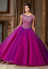 Two Tone Ball Gown Quinceanera Dresses Dark Green Cap Sleeves Fuchsia Debutante Dress Beaded Sweet 16 Dresses for 15 Years QR157