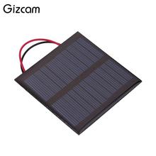 Gizcam Portable Mini Solar Panel Epoxy Plate Polysilicon Power Supply System Battery Charger Outdoor Charging Board Solar Cells