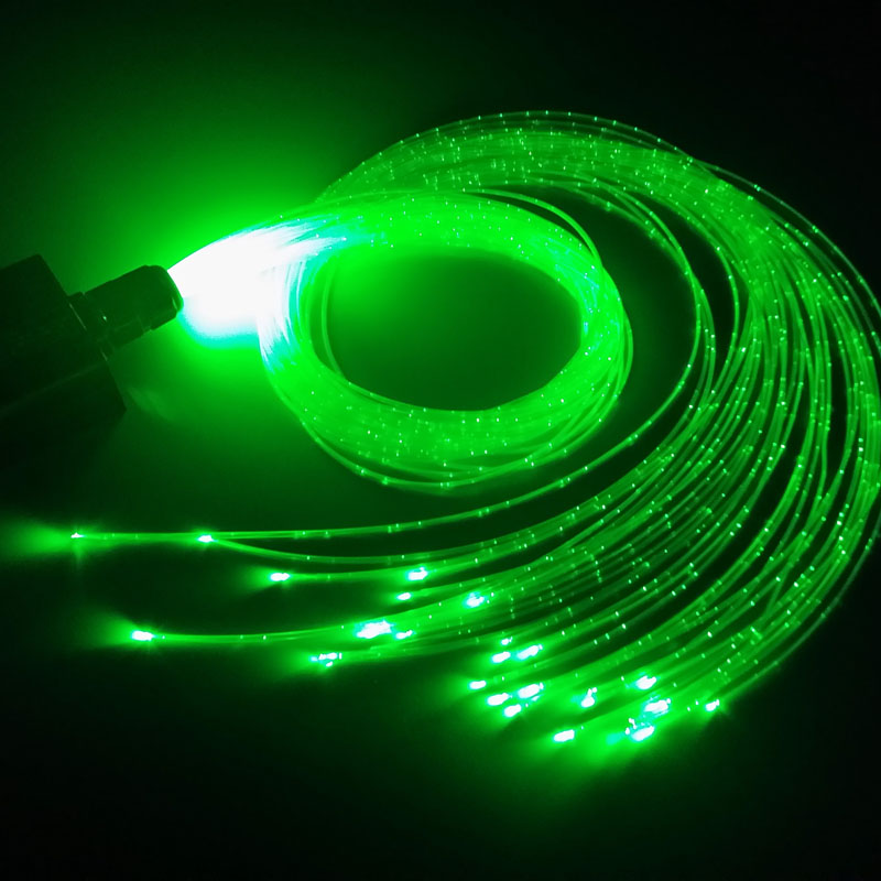 1.0mm *50/100/150/250/300pcs Side Glow Sparkle Sensory Fiber Optic Cable For Flash Point Waterfall Curtain,Sensory Kids Bedroom