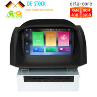 Octa Core Android8.0 Car DVD Player GPS Navigation Multimedia Stereo For Ford Fiesta 2014 2015 Auto Radio Audio Headunit 4G