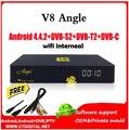 Ángel Android 4.4 Caja de TV que el V8 V8 Pro Combo DVB-S2/T2/C HD Receptor de Satélite freesat v7