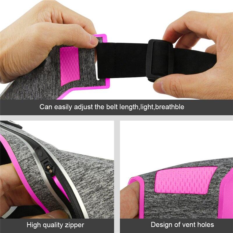 Outdoor Running Waist Bag Waterproof Mobile Phone Holder Jogging Belt Belly Bag Women Gym Fitness Bag Lady Sport Accessories 9
