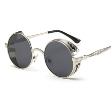 Steampunk Vintage Sunglass Fashion round sunglasses women br