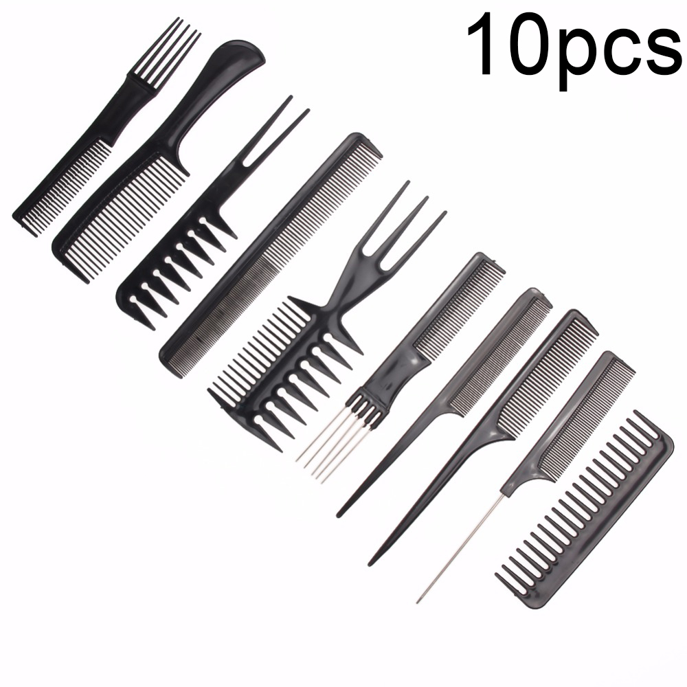 10pcs 1pcs Professional Hair Brush Comb Salon Barber Anti-static Hair Combs Hairbrush Hairdressing Combs Hair Care Styling Tools