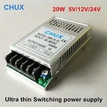 Schaltnetzteil 20 watt Ultra dünne 5 v 12 v 24 v SMPS Für Led streifen licht lampe Power adapter Quelle Fahrer Transformator