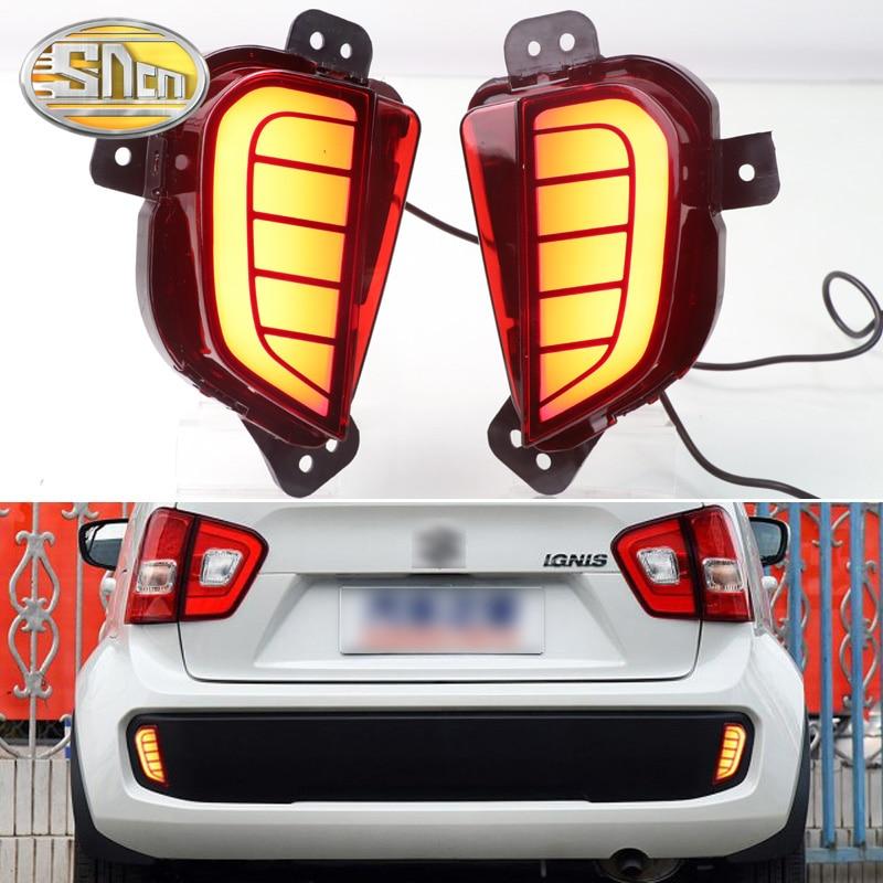 2PCS For Suzuki Ignis 2016 2017 2018 2019 Multi function LED Rear Bumper Light Rear Fog