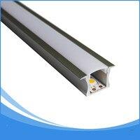50 шт. 2 м Длина встраиваемые Алюминий LED профиля светодиодные полосы алюминия канал корпус-Пункт НЕТ. LA-LP14